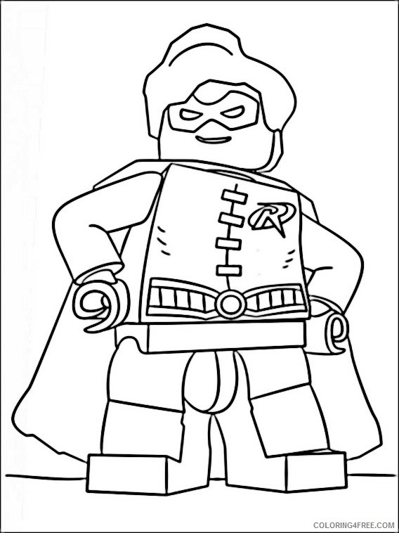 Lego Batman Coloring Pages Printable Coloring4free