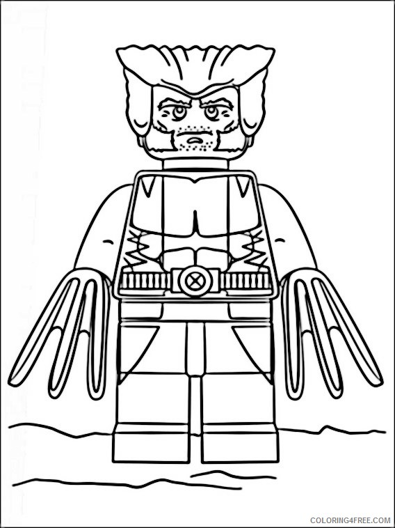 Lego Marvel Super Heroes Coloring Pages Printable Coloring4free