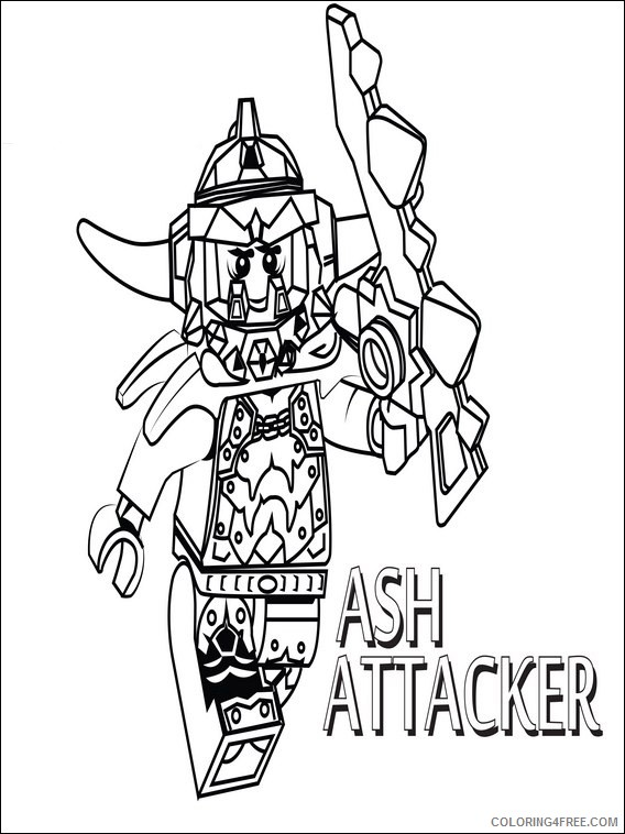Lego Nexo Knights Coloring Pages Printable Coloring4free