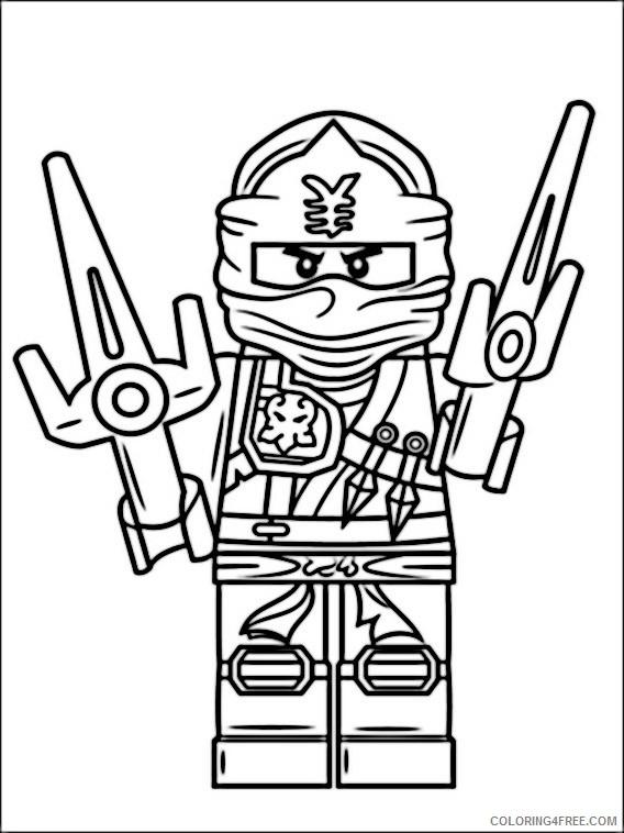 Lego Ninjago Coloring Pages Printable Coloring4free