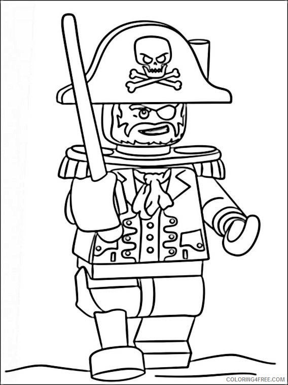 Lego Pirates of the Caribbean Coloring Pages Printable Coloring4free