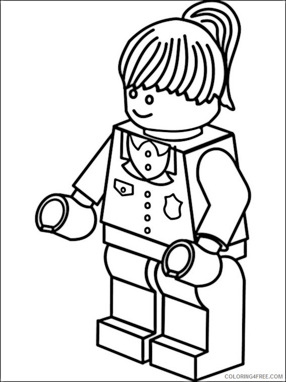Lego Police Coloring Pages Printable Coloring4free