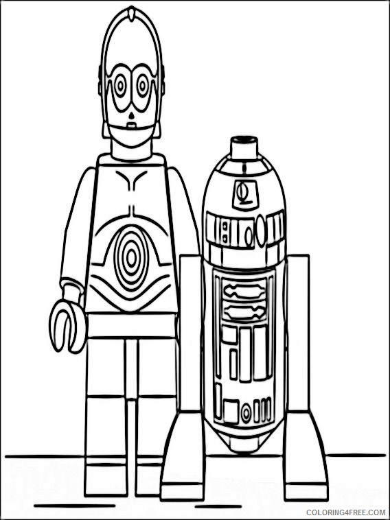 Lego Star Wars Coloring Pages Printable Coloring4free