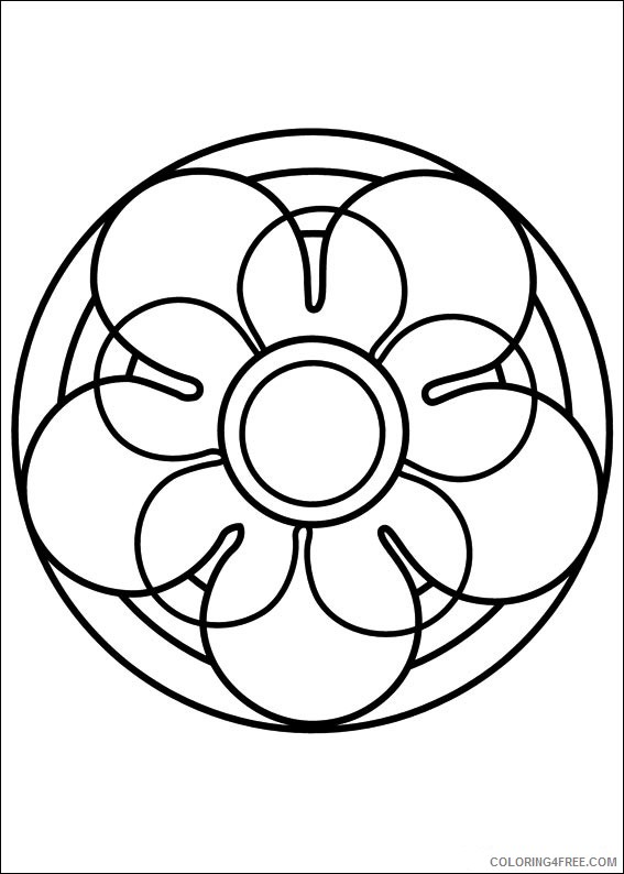 Mandala Coloring Pages Printable Coloring4free