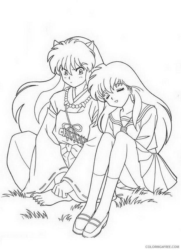 Manga Coloring Pages Printable Coloring4free
