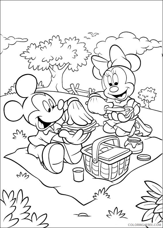 Mickey Mouse Coloring Pages Printable Coloring4free