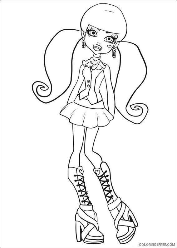 Monster High Coloring Pages Printable Coloring4free