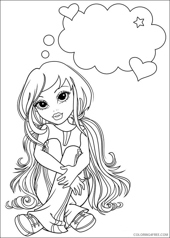 Moxie Girlz Coloring Pages Printable Coloring4free