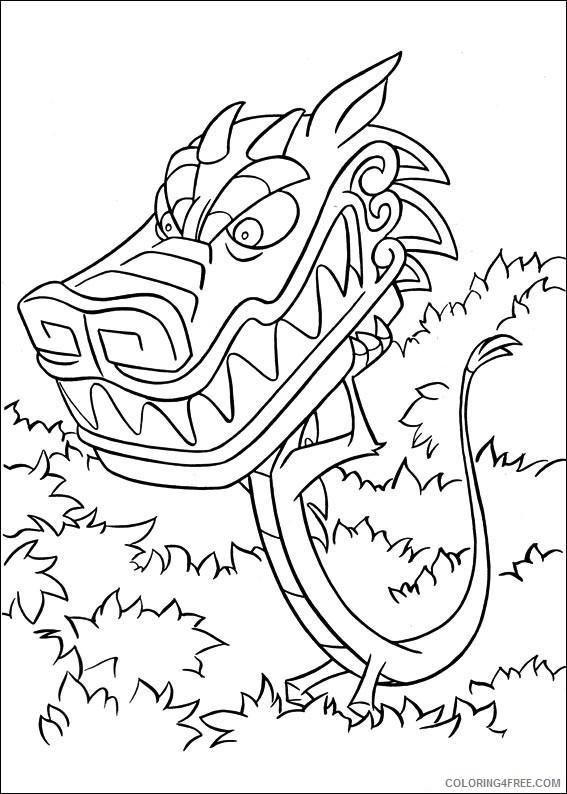 Mulan Coloring Pages Printable Coloring4free