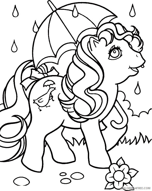 My Little Pony Coloring Pages Printable Coloring4free