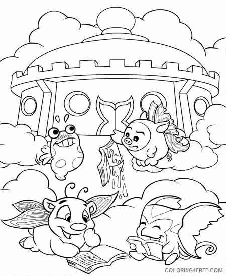 Neopets Coloring Pages Printable Coloring4free