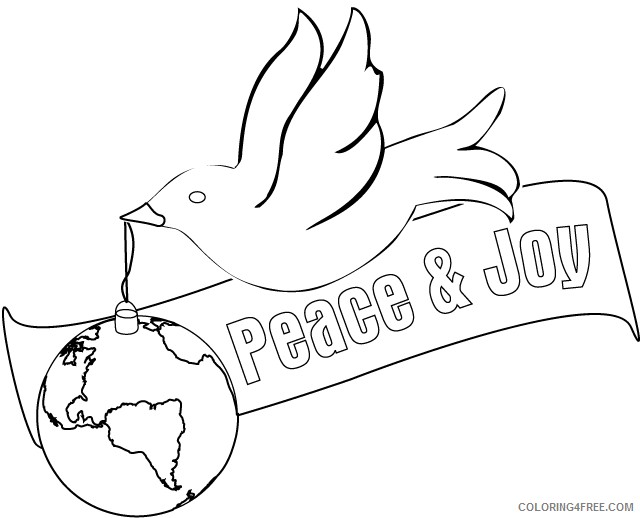 Peace Coloring Pages Printable Coloring4free