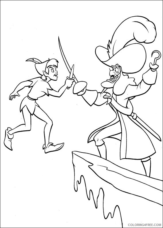 Peter Pan Coloring Pages Printable Coloring4free