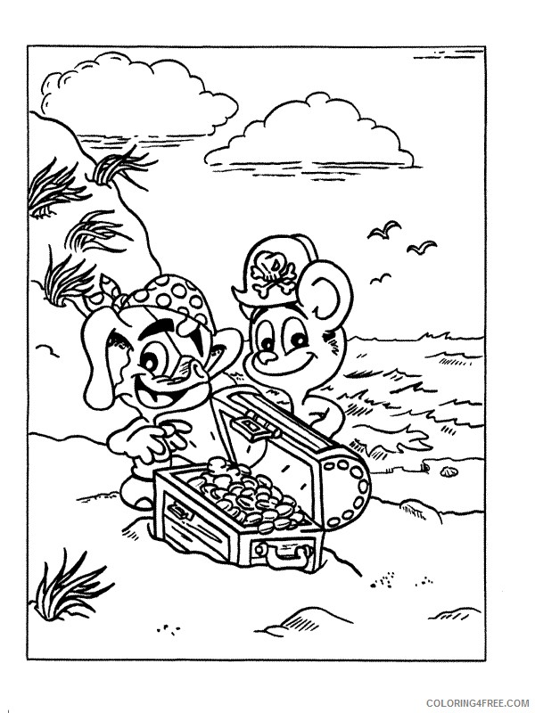 Pirates Coloring Pages Printable Coloring4free