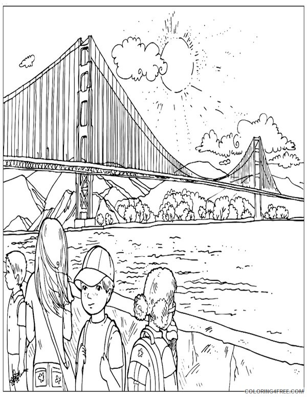 Places of the World Coloring Pages Printable Coloring4free