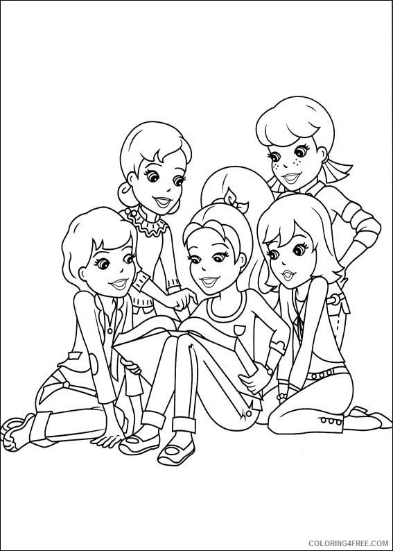 Polly Pocket Coloring Pages Printable Coloring4free