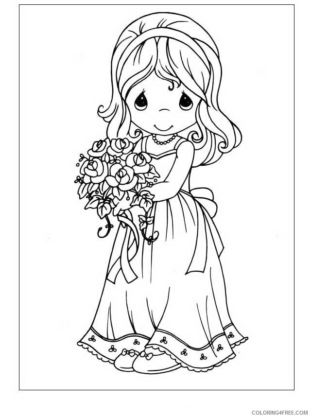 Precious Moments Coloring Pages Printable Coloring4free