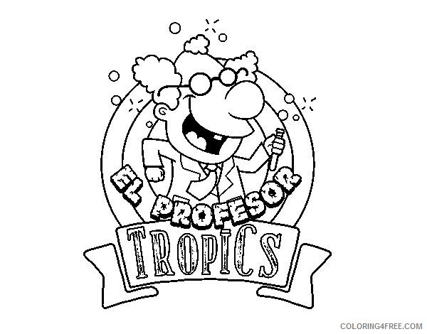 Professor Tropics Coloring Pages Printable Coloring4free