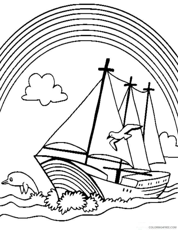 Rainbow Coloring Pages Printable Coloring4free