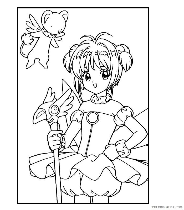 Sakura Coloring Pages Printable Coloring4free