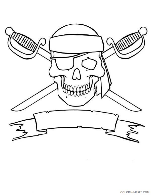 Skull Coloring Pages Printable Coloring4free