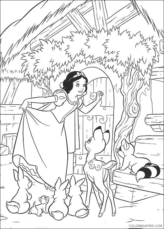 Snow White Coloring Pages Printable Coloring4free