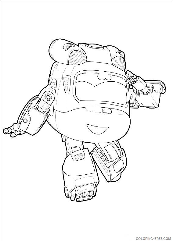 Super Wings Coloring Pages Printable Coloring4free