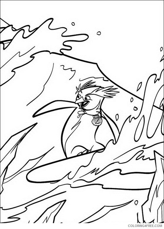 Surfs Up Coloring Pages Printable Coloring4free