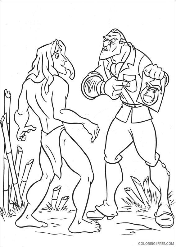 Tarzan Coloring Pages Printable Coloring4free