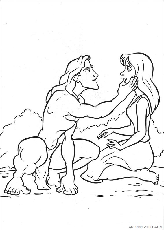 Tarzan Coloring Pages Printable Coloring4free