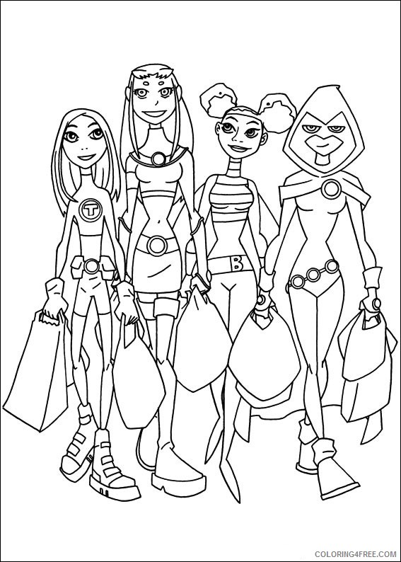 Teen Titans Coloring Pages Printable Coloring4free