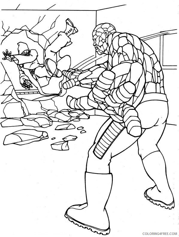The Fantastic Four Coloring Pages Printable Coloring4free