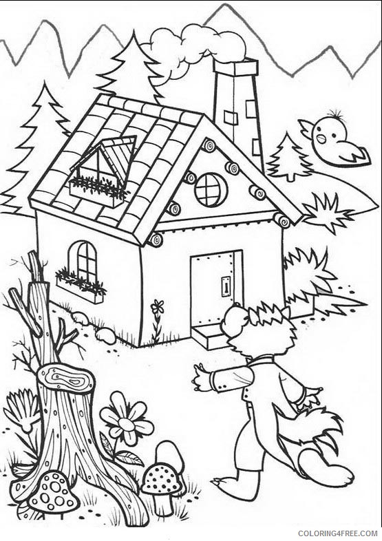 Three Little Pigs Coloring Pages Printable Coloring4free