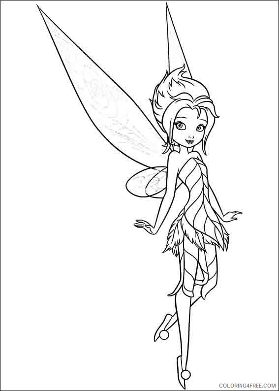 Tinker Bell A Winter Story Coloring Pages Printable Coloring4free