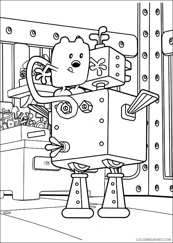 Wow Wow Wubbzy Coloring Pages Printable Coloring4free