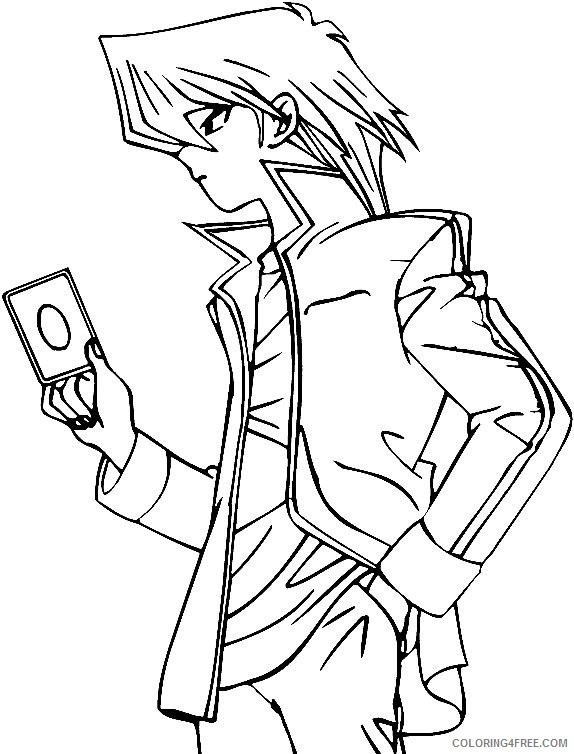 Yu Gi Oh Coloring Pages Printable Coloring4free