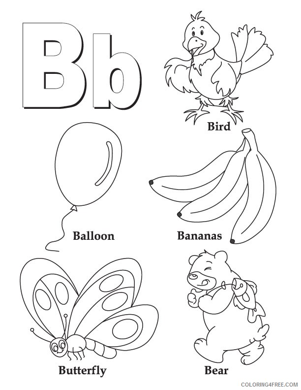 abc coloring pages b letter with pictures Coloring4free