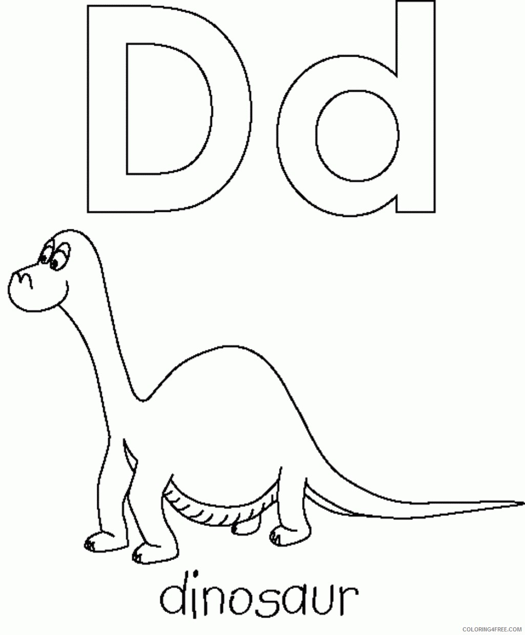 abc coloring pages d for dinosaur Coloring4free