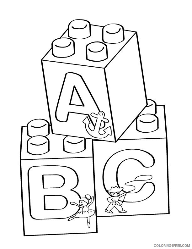 abc coloring pages free to print Coloring4free