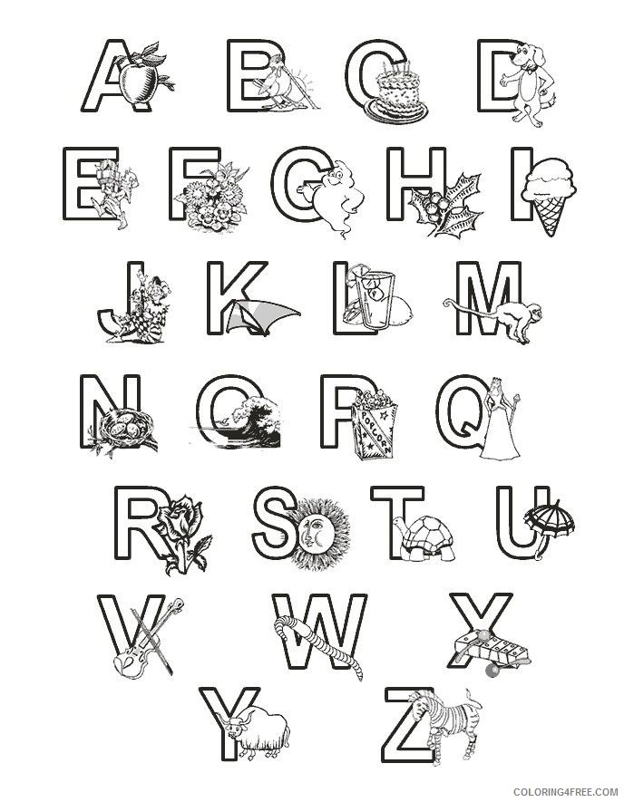 abc coloring pages with pictures Coloring4free