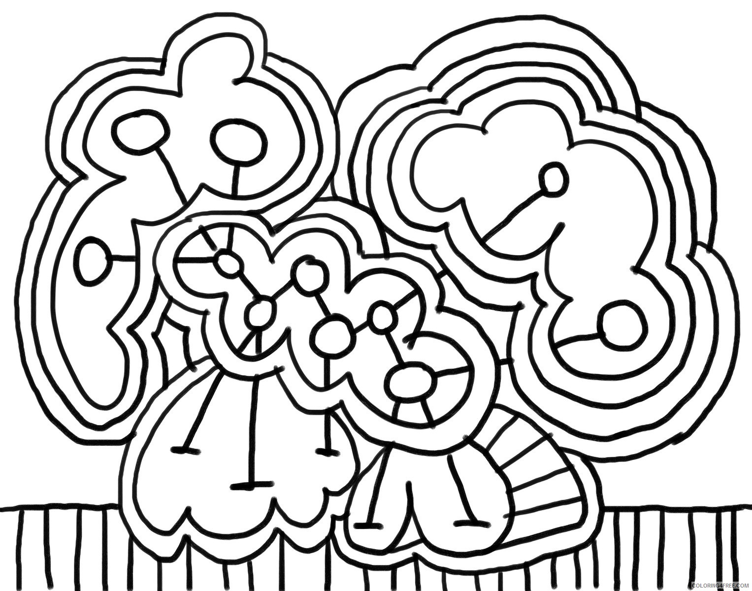 abstract art printable coloring pages for kids Coloring4free