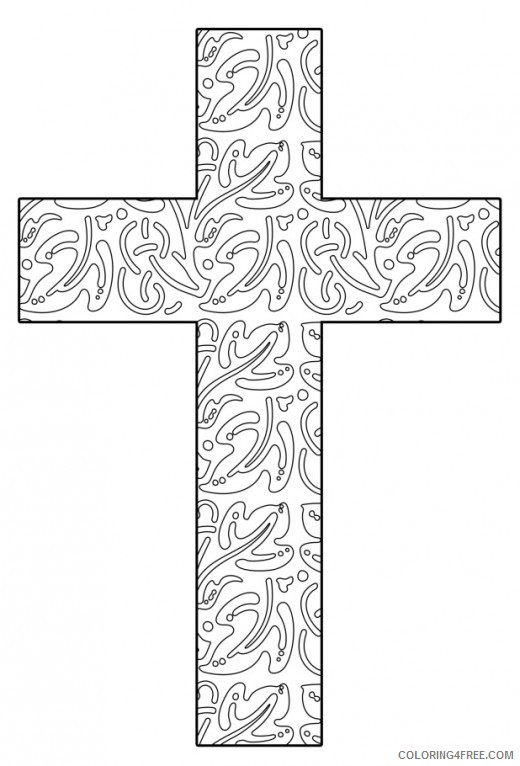 abstract cross coloring pages for adults Coloring4free