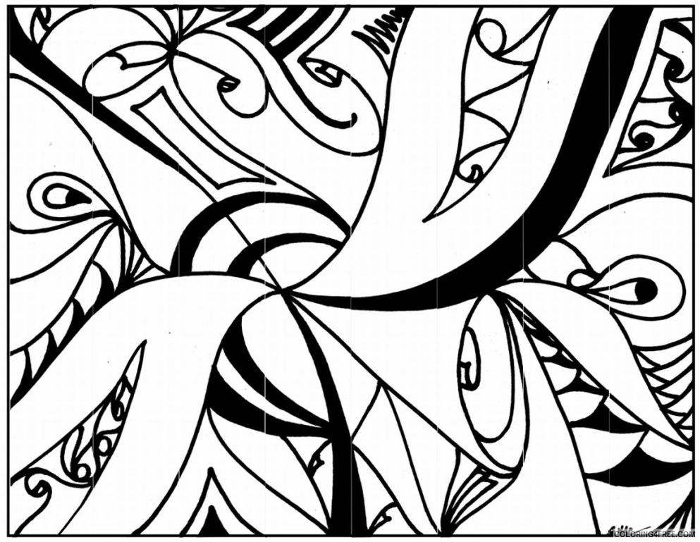 abstract design coloring pages printable Coloring4free