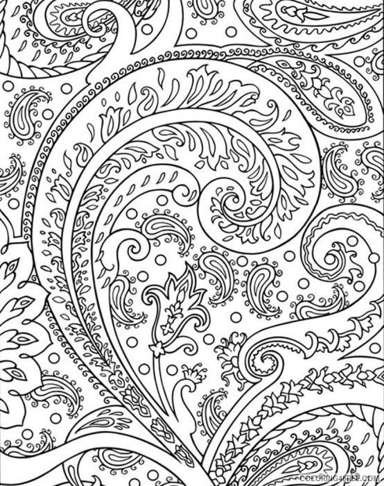 abstract floral printable coloring pages Coloring4free