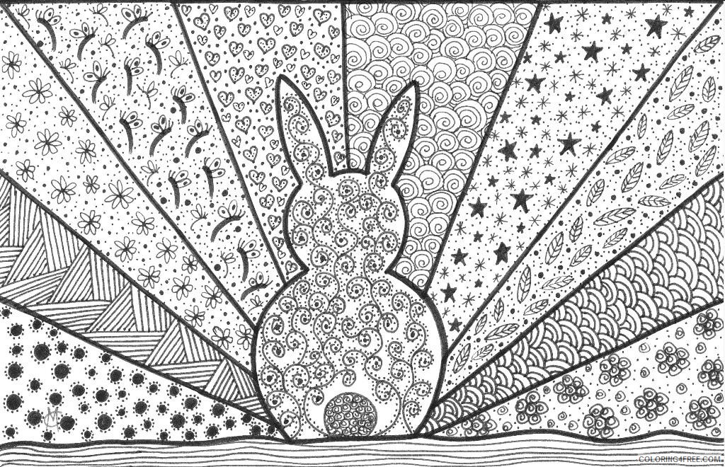 abstract geometric coloring pages for adults Coloring4free