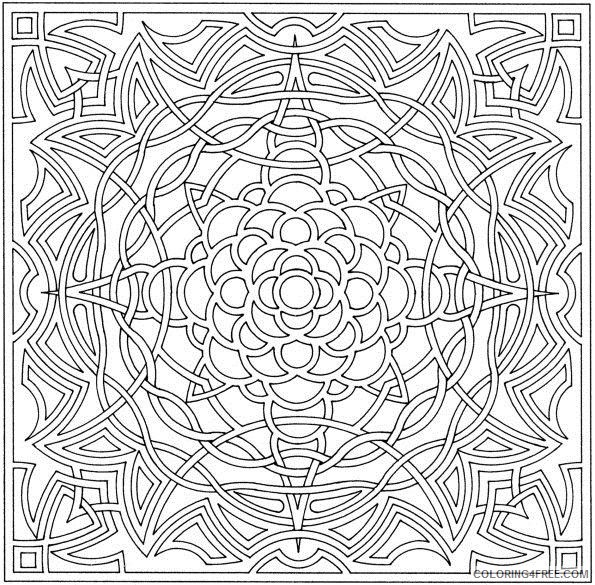 abstract geometric printable coloring pages to print Coloring4free