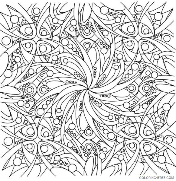 abstract hard coloring pages for adults Coloring4free