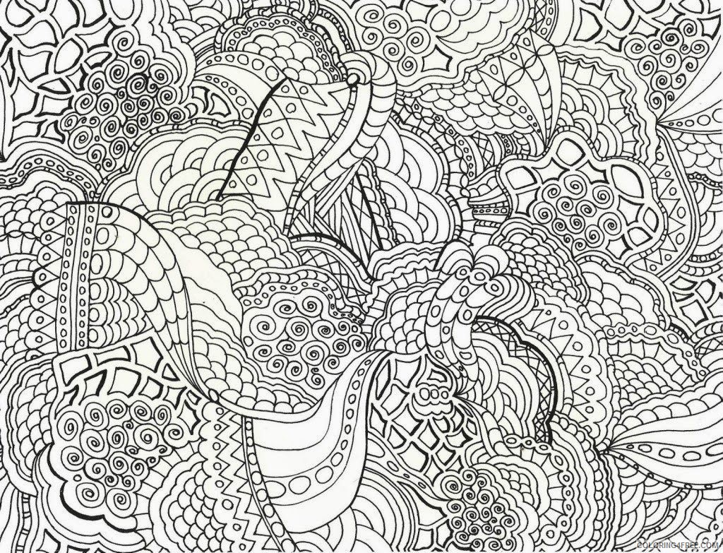 abstract hard coloring pages printable Coloring4free