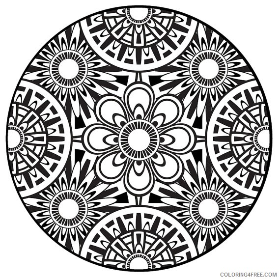 abstract mandala printable coloring pages to print Coloring4free