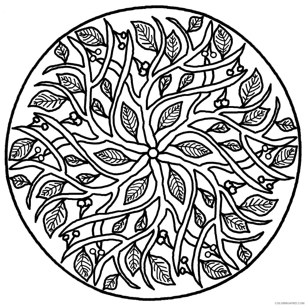 abstract nature printable coloring pages Coloring4free